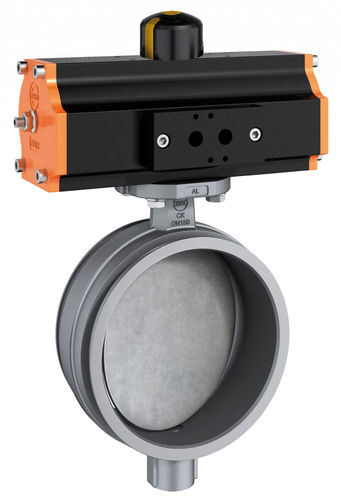 butterfly valve / pneumatically-operated / flow control / for air