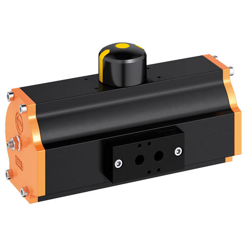 pneumatic valve actuator / rotary / double-acting / Scotch yoke