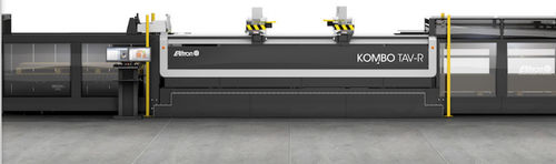 cardboard cutting machine / knife / printer / with automated loading/unloading