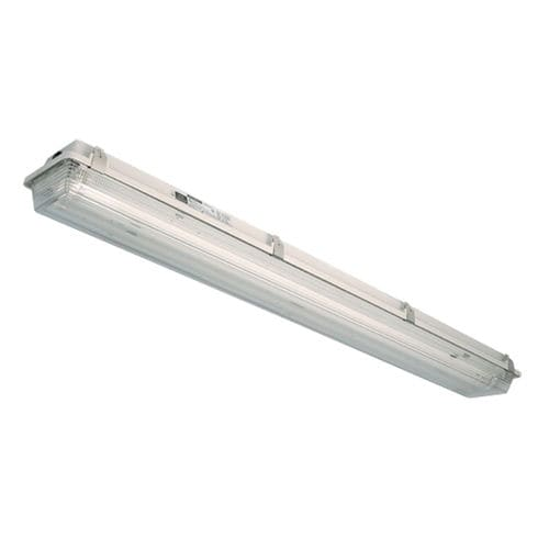ceiling-mounted lighting / LED / fluorescent tube / polycarbonate