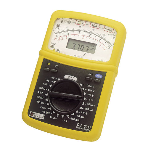 digital multimeter / analog / portable / 600 V