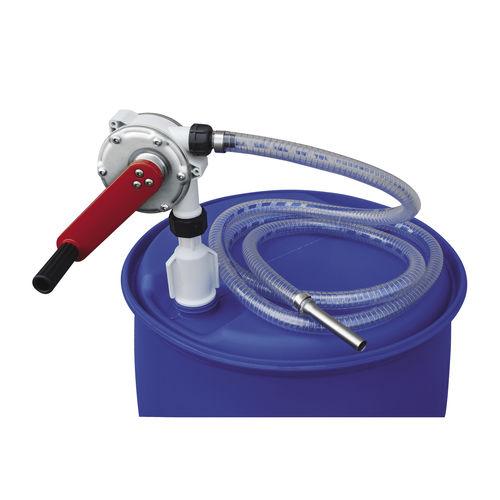 chemical pump / hand crank / hand-priming / chemical