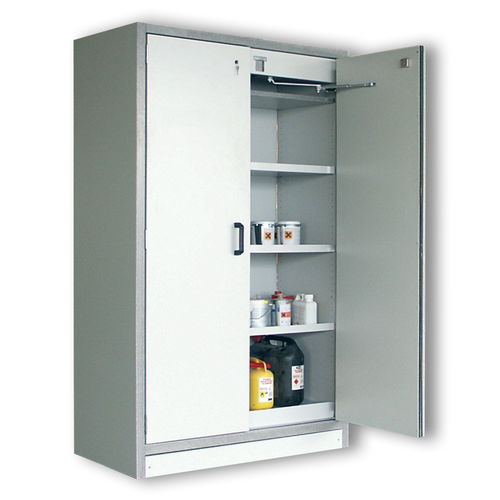 storage cabinet / free-standing / hinged door / shelf