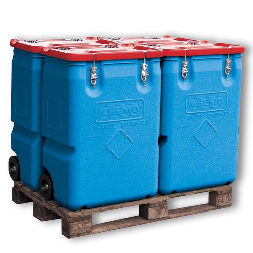 polyethylene crate / transport / handling / for waste