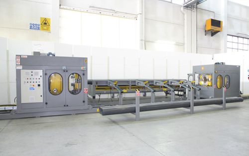 automatic pipe threading machine / for plastic pipes