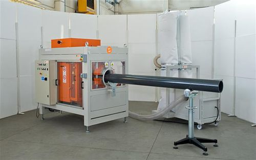 semi-automatic pipe threading machine / for plastic pipes