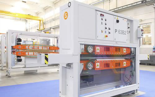 pipe extrusion line belt haul-off unit / for profile extrusion lines