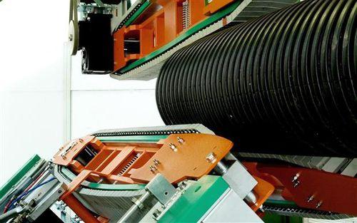 corrugated tube extrusion line caterpillar haul-off