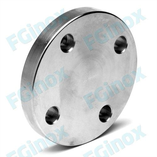 pipe flange / stainless steel / solid