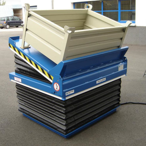 scissor lift table / electric / pneumatic / stationary
