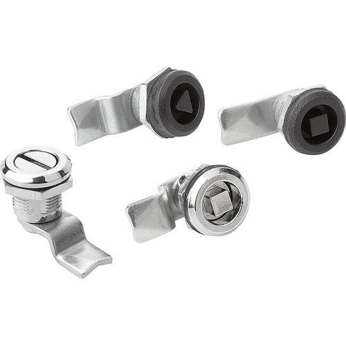 quarter-turn latch / steel / zinc / brass