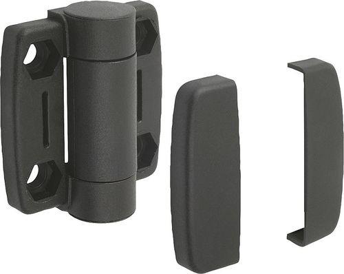 thermoplastic hinge / fiberglass / stainless steel / screw-in