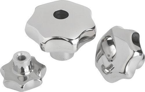 knurled knob / lobe / stainless steel