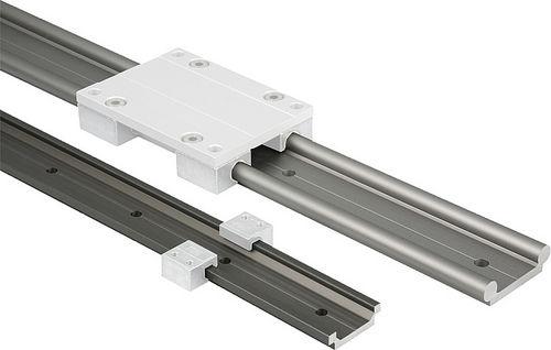 slide linear guide / aluminum / profiled rail