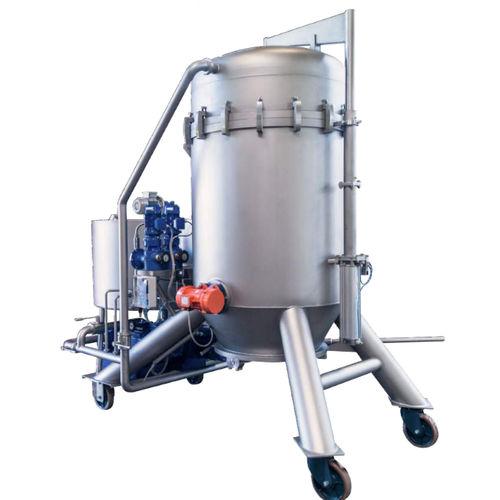 oil filter / basket / vertical / mobile