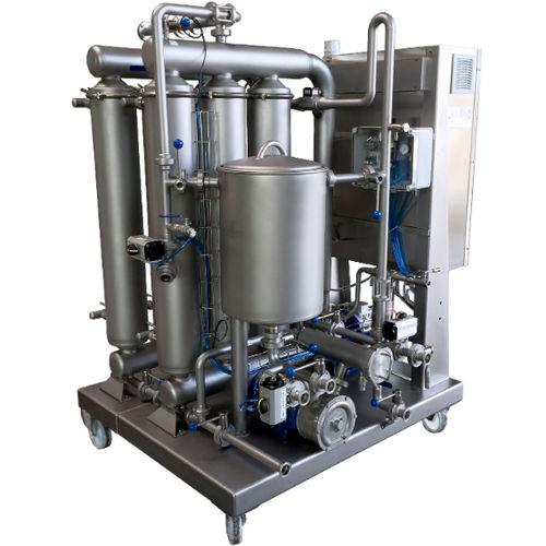 liquid filter / for wine / multi-basket / semi-automatic