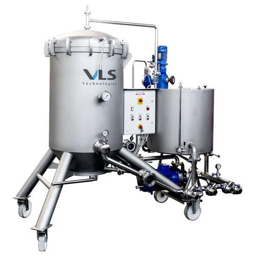 pressure filter / for wine / basket / mobile