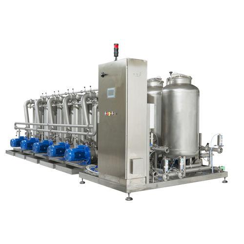 cross flow filter / liquid / for wine / multi-basket