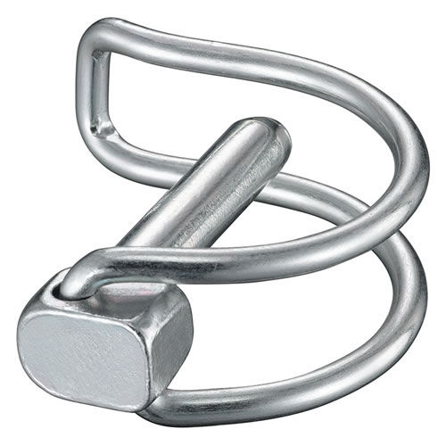 linch pin / zinc-plated steel / for pipes