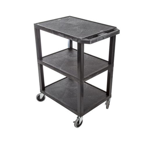 shelf trolley / service / polypropylene / with swivel casters