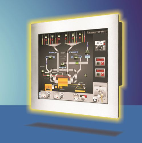 LCD panel PC / TFT LCD / with touch screen / LED backlight