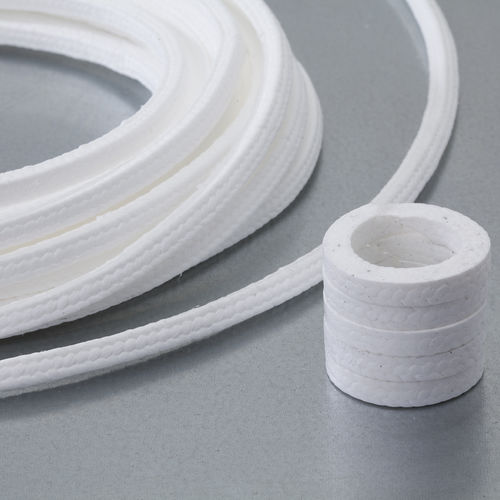 braided PTFE packing / chemical-resistant / for pumps / for valves