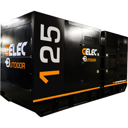 outdoor generator set / three-phase / diesel / containerized
