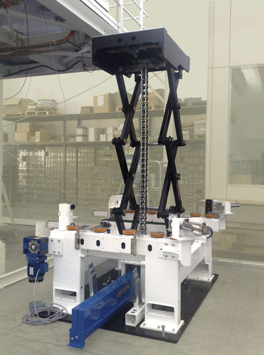 scissor lift table / electric / stationary / high-performance