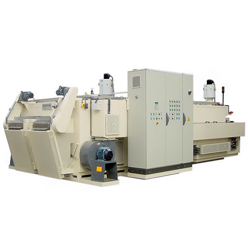 hot washing machine / with water jet / solvent / water