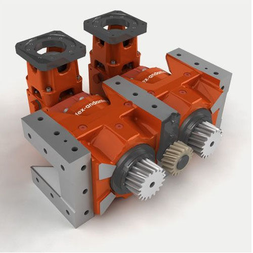 rack-and-pinion drive gear reducer