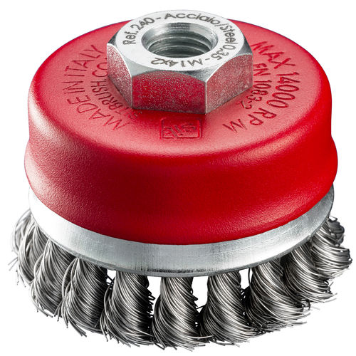 cup brush / knotted / for grinding processes / cleaning
