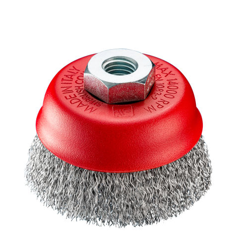 cup brush / for grinding processes / cleaning / finishing