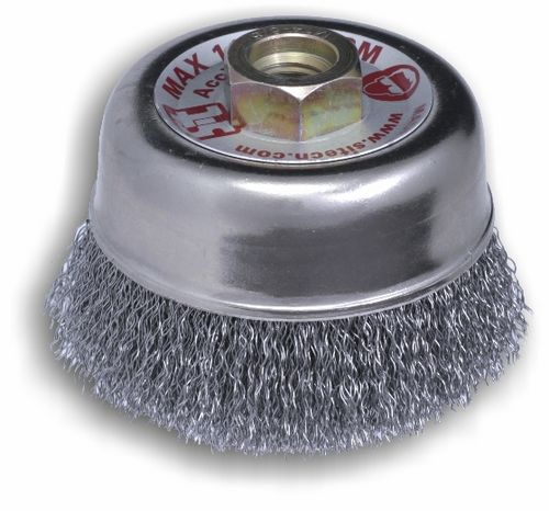 cup brush / knotted / cleaning / for grinding processes