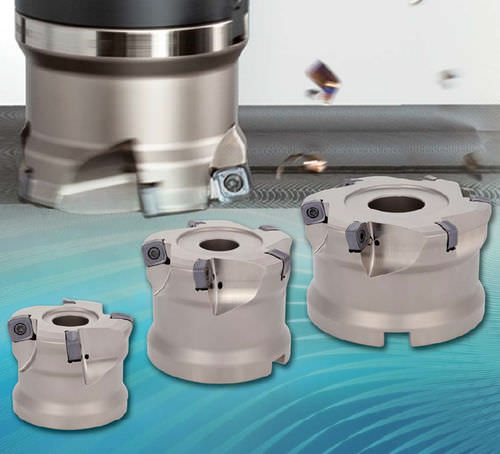 shell-end milling cutter / insert / face / high feed rate