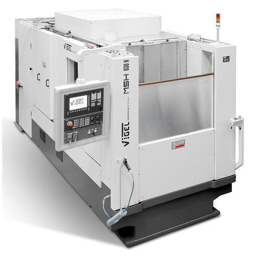3-axis CNC machining center / horizontal / with rotary tilting table / multi-spindle