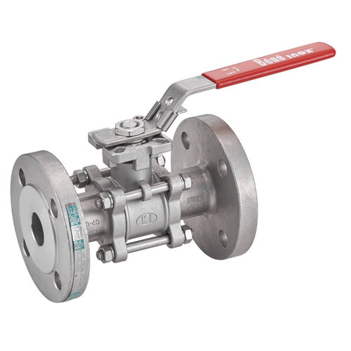 ball valve / manual / shut-off / flange