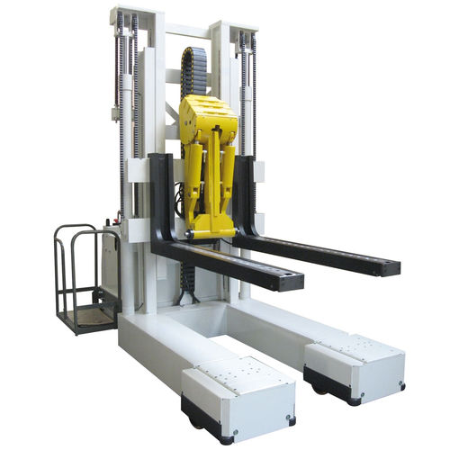 electric stacker truck / with rider platform / loading / unloading