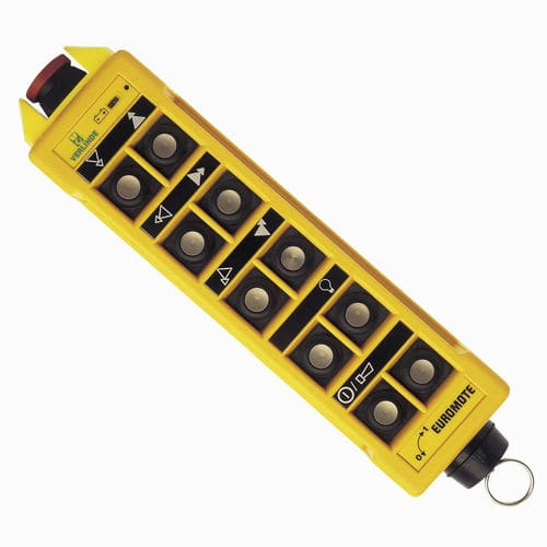 radio remote control / with buttons / for lifting equipment / for overhead cranes