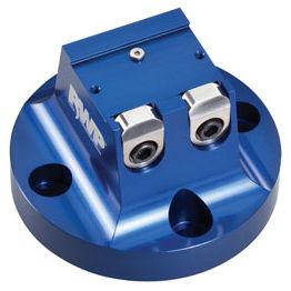 machine tool vise / low-profile / spring / aluminum