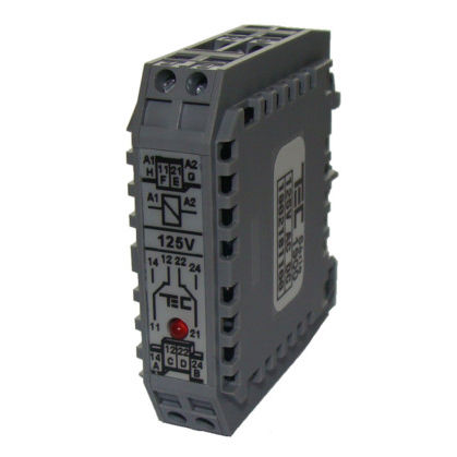DIN rail electromechanical relay
