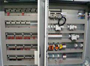 control cabinet / floor-mounted / double-door / steel
