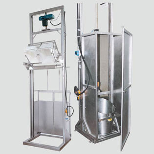 emptying system for the food industry