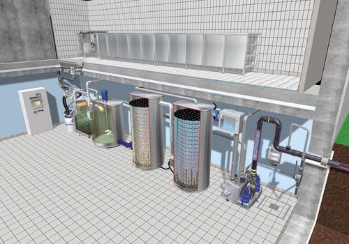 organic waste water treatment / compact