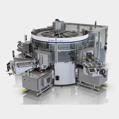 automatic labeler / cold-glue / for the food and beverage industry / side