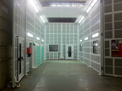enclosed paint booth / filter