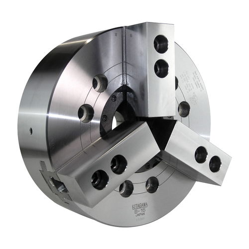 power chuck / 3-jaw / through-hole / with adapter