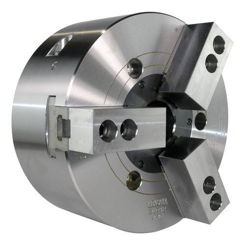 power chuck / 3-jaw / through-hole / alloy