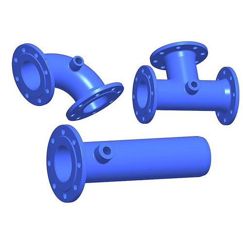 weld-on fitting / flange / straight / elbow