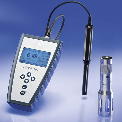 dissolved oxygen measuring instrument / optical / portable