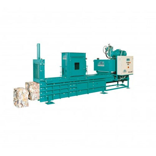 horizontal crusher-compactor / miscellaneous waste / automatic